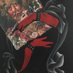 Grand interieur Noir,60x80cm,collage on paper,2016
