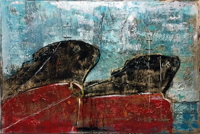 Giusy Lauriola - Twins 80X120X3,5 cm 2020