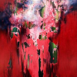 Marjan Fahimi - Talking-about-the-revolution---tecnica-mista-e-resina-su-tavola---100x85-cm---2020