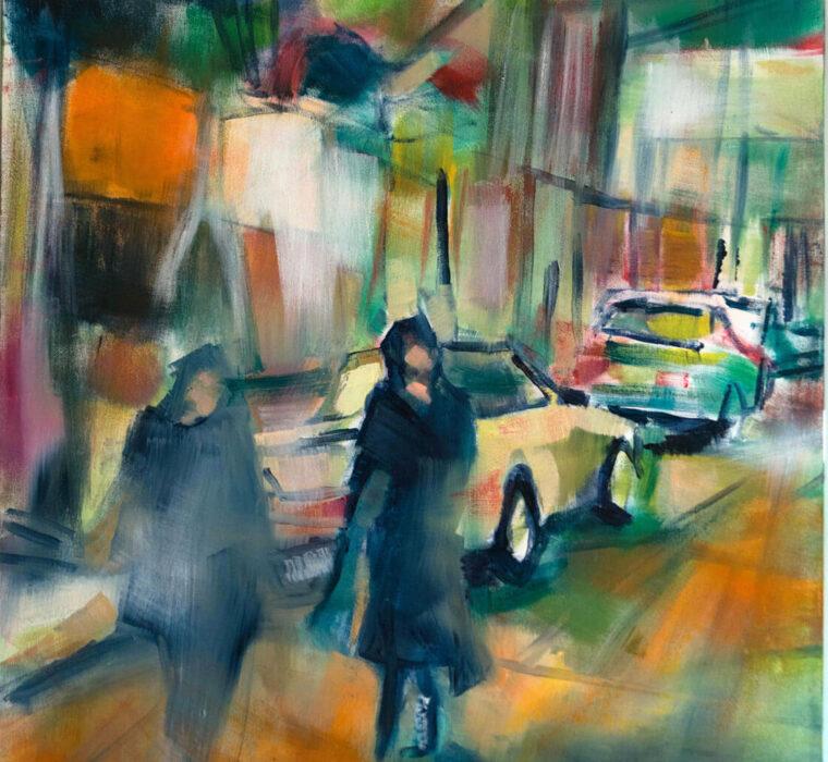 Chiara Abbaticchio La giusta distanza - olio su tela cm 60x80 - 2019