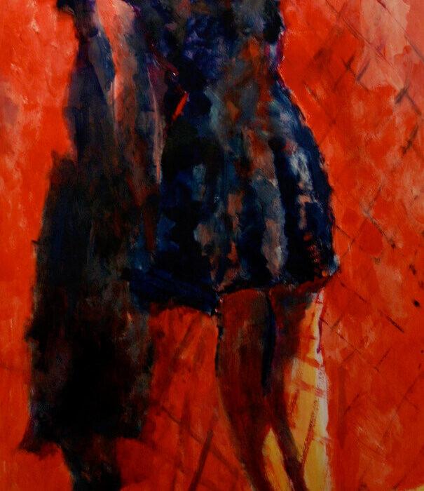 Chiara Abbaticchio Red Shoes 70x150 2017